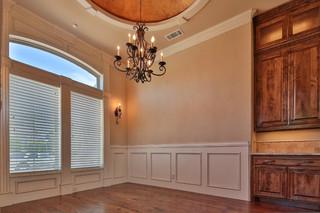 现代美式风格200平米别墅温馨装饰天花吊顶装修效果图