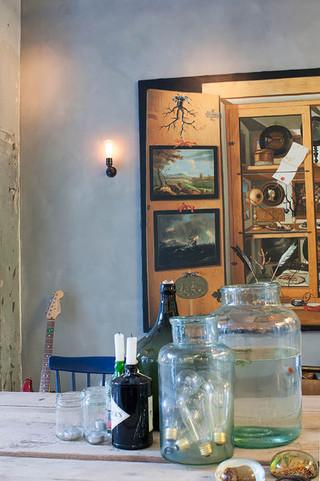 混搭风格200平米别墅艺术家具壁灯效果图