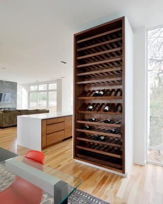 现代简约风格卧室三层双拼别墅时尚衣柜中式酒柜图片