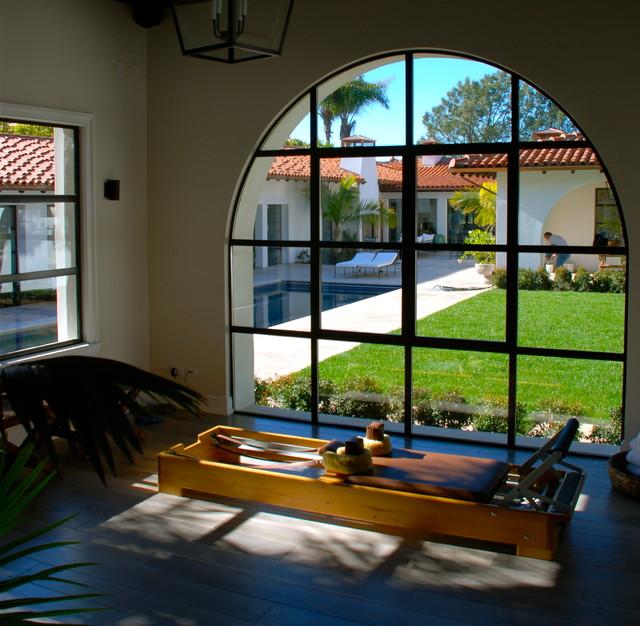 地中海风格客厅三层连体别墅浪漫卧室茶室设计图纸