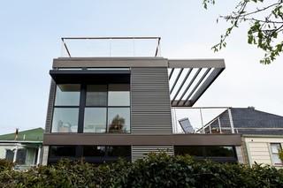 美式风格三层小别墅浪漫卧室大露台效果图