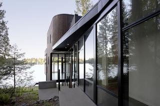 现代美式风格200平米别墅大气室内窗户效果图
