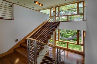 美式风格客厅2层别墅豪华别墅楼梯设计图纸