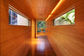 现代美式风格三层半别墅豪华欧式客厅客厅过道吊顶效果图