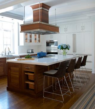 现代简约风格厨房三层别墅及唯美大理石餐桌图片