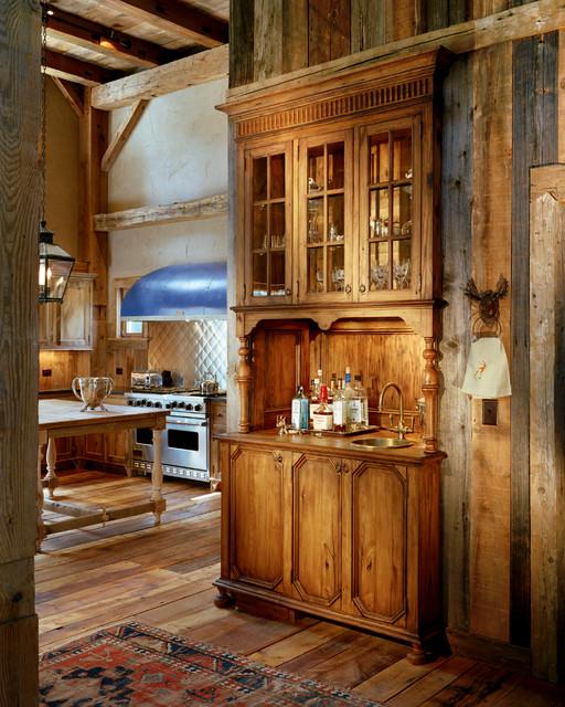 美式乡村风格客厅2层别墅简单温馨中式酒柜图片图片