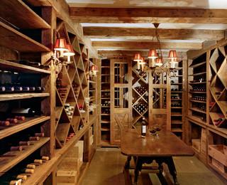 美式乡村风格卧室三层连体别墅简单温馨餐厅酒架效果图