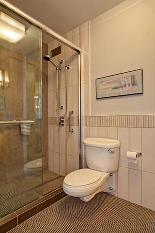中式风格客厅小型公寓舒适整体淋浴房定做