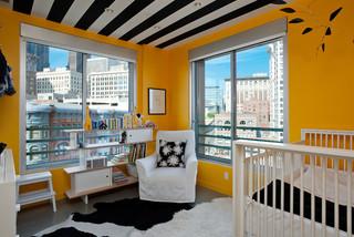 宜家风格三层双拼别墅艺术家具婴儿房间设计图