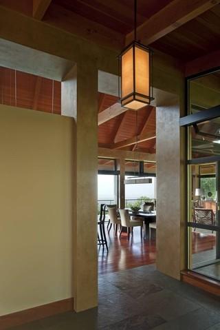 混搭风格客厅三层别墅大气门厅过道吊顶改造