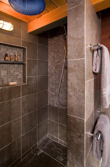 美式乡村风格卧室一层别墅及浪漫卧室淋浴房配件安装图高清图片