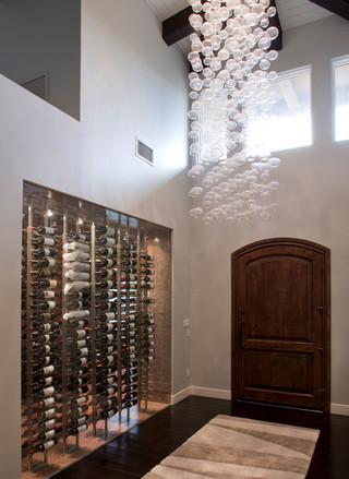 欧式风格一层半别墅奢华中式家装玄关装修图片