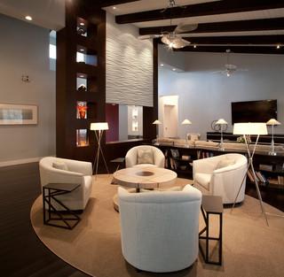 欧式风格卧室一层半小别墅低调奢华懒人沙发图片