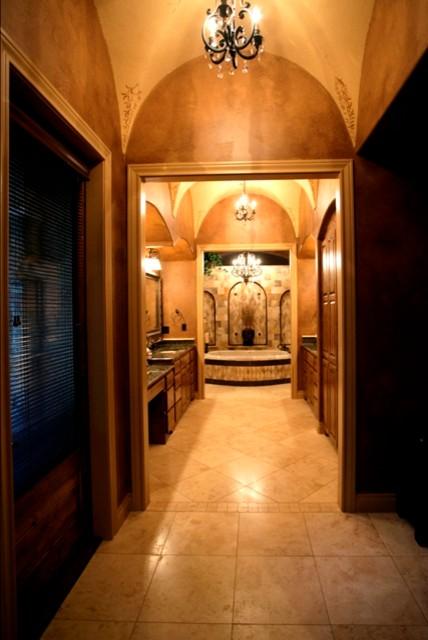现代美式风格一层半小别墅温馨卧室室内玄关设计