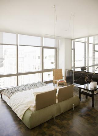 宜家风格2层别墅时尚衣柜2012卧室效果图
