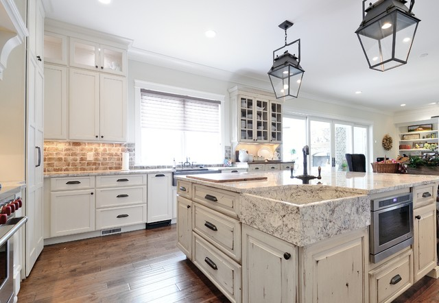 欧式风格家具三层平顶别墅大气整体厨房设计图装修图片