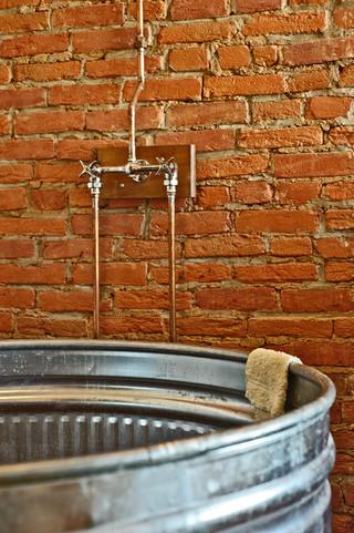 宜家风格酒店式公寓艺术独立式浴缸效果图