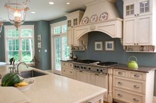 现代美式风格一层半别墅舒适整体厨房吊顶装修
