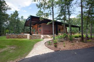美式乡村风格卧室三层别墅及卧室温馨楼顶花园装修效果图