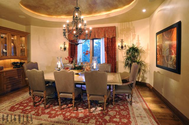 地中海风格卧室300平别墅欧式奢华厨房和餐厅装修效果图