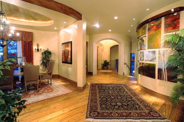 地中海风格家具三层半别墅奢华客厅进门玄关装修图片