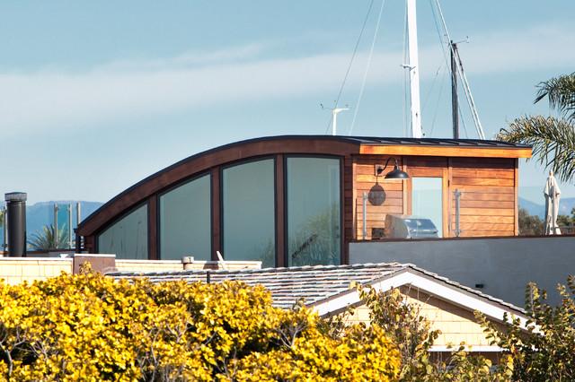 现代美式风格三层连体别墅大气露台花园效果图