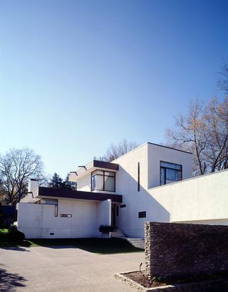 现代简约风格餐厅200平米别墅现代时尚庭院围墙效果图