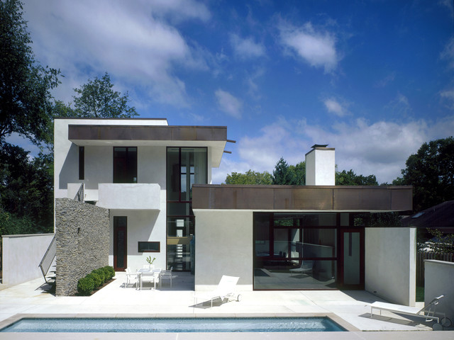 现代简约风格卧室2层别墅时尚卧室装饰别墅游泳池装修图片