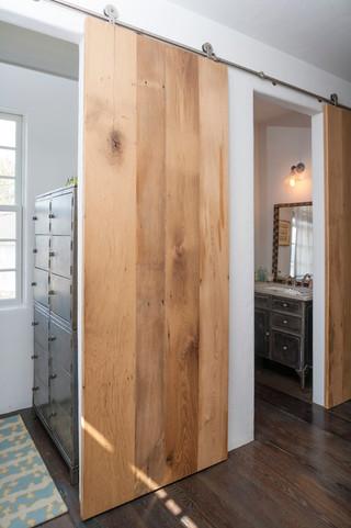 美式风格卧室三层小别墅舒适家庭过道设计图