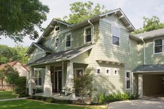 欧式风格家具三层小别墅现代简洁庭院绿化效果图