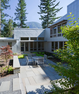 现代简约风格餐厅2013年别墅简洁卧室露台花园效果图