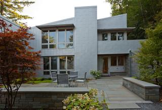 现代简约风格卧室3层别墅简洁露台花园装修效果图