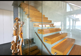 宜家风格3层别墅时尚简约客厅室内装修楼梯设计图纸