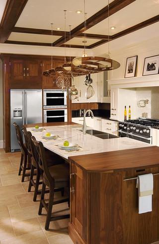 美式乡村风格客厅三层独栋别墅浪漫卧室原木色家居装修效果图