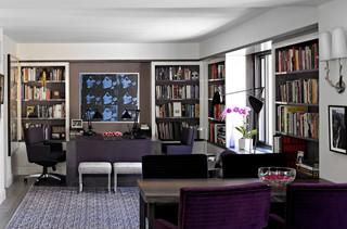 彰显古典稳重风的黑灰色 纽约芒特湖公寓内景