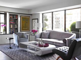 新古典风格小型公寓稳重12平米客厅效果图