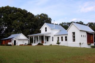 美式乡村风格3层别墅艺术小庭院装修效果图