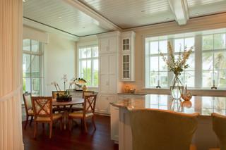 现代美式风格三层平顶别墅梦幻家具套房餐厅装修