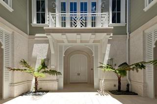 美式风格200平米别墅梦幻客厅玄关设计图纸
