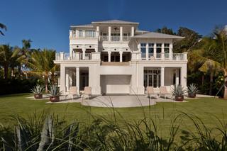 现代美式风格三层独栋别墅梦幻家具空中花园装修