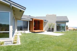 宜家风格客厅三层小别墅简洁庭院围墙效果图