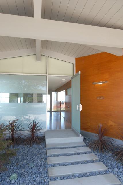 宜家风格一层半别墅客厅简洁入户玄关装修效果图