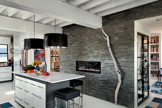搭风格客厅一层别墅及艺术家具厨房隔断酒柜设计图纸-装修效果图案