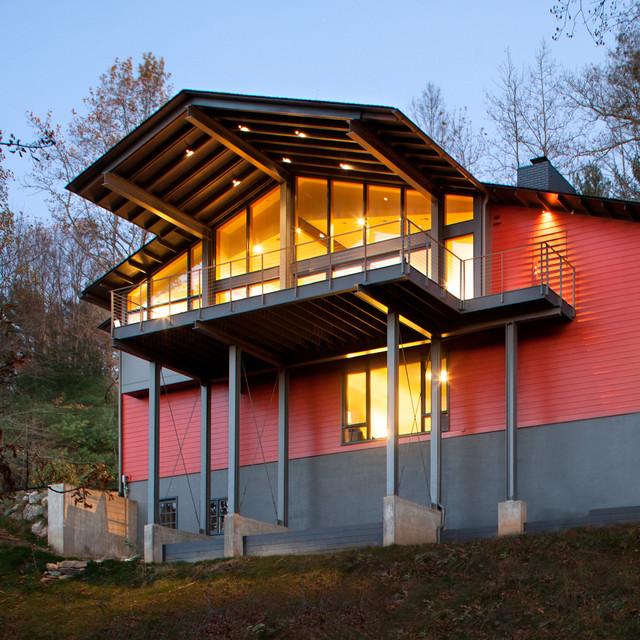 现代简约花园风格三层半别墅a花园装饰阳台客厅装修紫云台联排别墅图片