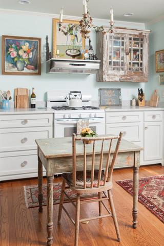 地中海风格卧室三层半别墅浪漫卧室快餐桌效果图