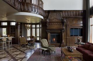 新古典风格三层双拼别墅奢华2013家装客厅改造