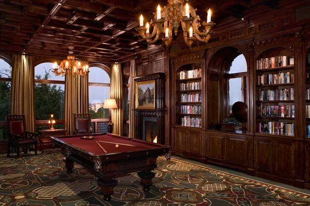 新古典风格客厅一层半小别墅欧式奢华书房小户型效果图