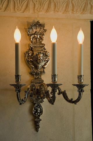 新古典风格3层别墅奢华壁灯效果图