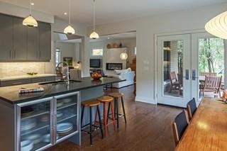 美式乡村风格卧室3层别墅浪漫卧室整体厨房设计图效果图