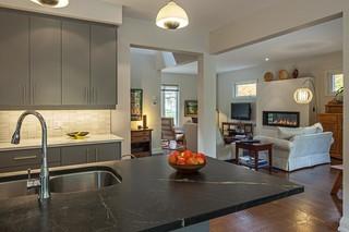 美式乡村风格卧室三层小别墅浪漫婚房布置快餐桌图片